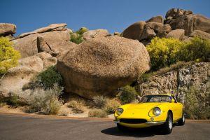 vehicle car rock yellow cars