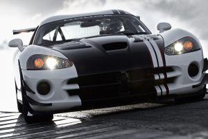 vehicle dodge viper white black dodge white cars car