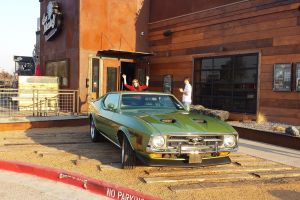 vehicle ford ford mustang car green cars