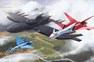 vehicle latias kyogre jets ace combat video games aircraft latios video game art