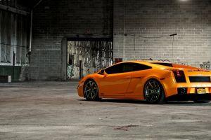 vehicle orange cars lamborghini car