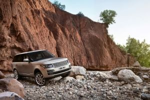 vehicle outdoors car range rover