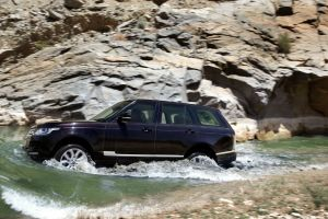 vehicle range rover water car