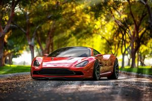 vehicle red cars bokeh aston martin depth of field car sunlight