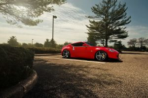 vehicle red cars nissan nissan 350z