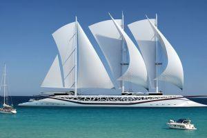 vehicle sea ship yachts sky modern horizon yacht nature sailing ship