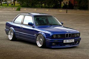 vehicle stance bbs bmw e30 blue cars bmw