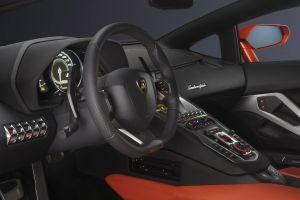 vehicle super car  car interior lamborghini aventador lamborghini steering wheel car