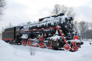 vehicle train winter
