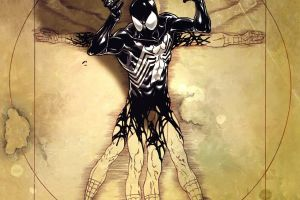 venom marvel comics spider-man leonardo da vinci vitruvian man