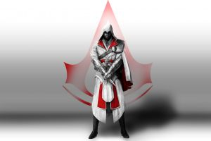 video game art assassin's creed video games simple background