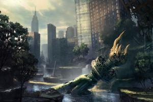 video games apocalyptic new york city city crysis 3