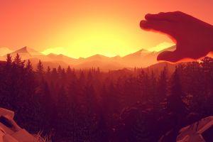 video games artwork firewatch