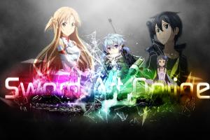 video games asada shino kirigaya kazuto sword art online rainbows yuuki asuna