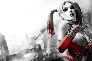 video games batman: arkham city batman harley quinn