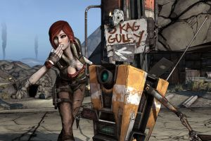 video games cleavage anime lilith siren claptrap borderlands lilith (borderlands)