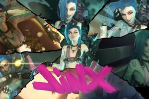 video games collage league of legends jinx (league of legends)