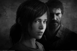 video games dark hair joel apocalyptic dark the last of us ellie