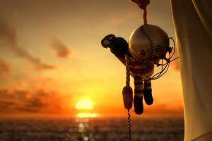 video games digital art sunset bokeh bioshock