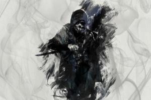 video games dishonored artwork skull