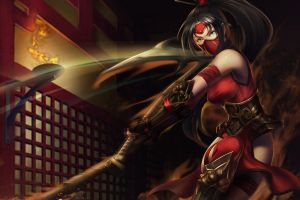 video games fantasy girl warrior akali league of legends