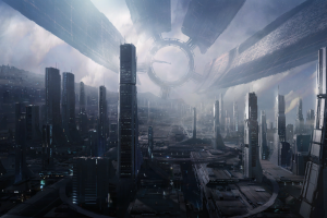 video games futuristic city citadel cityscape citadel (mass effect) mass effect science fiction