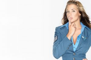 video games gemma atkinson red alert 3 model simple background women uniform
