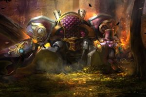 video games goblin timbersaw fantasy art dota 2 robot