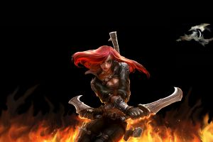 video games league of legends fantasy girl katarina (league of legends)