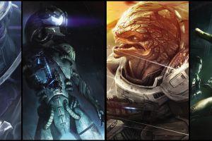 video games mass effect 3 mass effect 2 collage