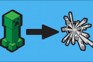 video games minecraft explosion creeper