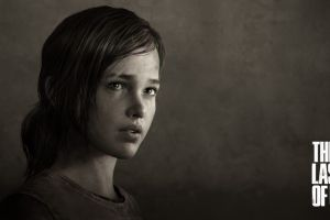 video games monochrome the last of us ellie