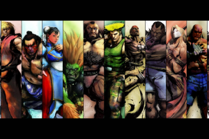 video games street fighter collage street fighter iv