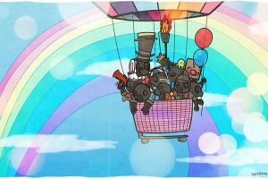 video games team fortress 2 rainbows artwork