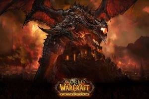 video games world of warcraft: cataclysm world of warcraft fire creature dragon fantasy art video game art pc gaming deathwing