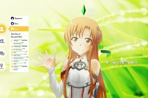 video games yuuki asuna anime anime girls sword art online