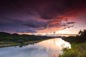 vietnam clouds river landscape sky
