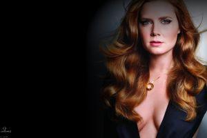 vignette face model necklace amy adams women cleavage long hair