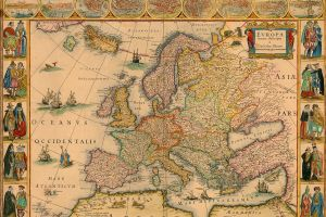 vintage cartography map world map europe