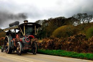 vintage steam locomotive road vehicle
