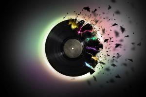 vinyl artwork simple background simple colorful digital art music