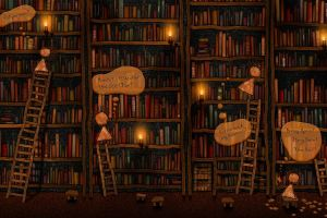 vladstudio artwork library books