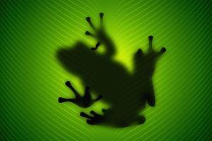 vladstudio frog green animals silhouette leaves amphibian