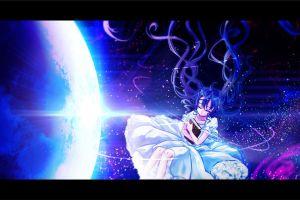 vocaloid anime hatsune miku space anime girls
