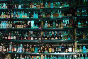 vodka whiskey bottles beer