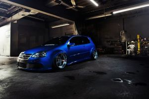 volkswagen golf gti blue cars golf v r32 car tuning stance