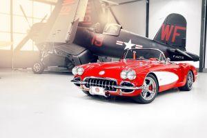 vought f4u corsair oldtimer red cars vehicle chevrolet car