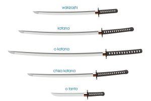 wakizashi katana weapon sword digital art anime