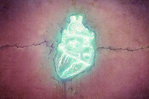 wall emerald heart digital art