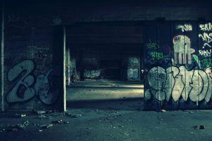 wall ruin abandoned graffiti